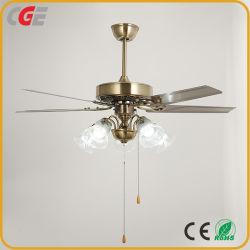 Bladen Van uitstekende kwaliteit van het Ijzer van de Plafondventilator de Vijf AC van 52 van de Duim de Zuivere van het Koper van de Motor van het Glas van de Schaduw Decoratieve Ventilators van het Plafond Lichte KoelVentilator van de Ventilator