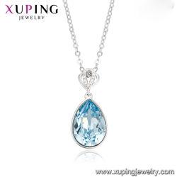 Het Hart van de Juwelen van de Manier van de luxe van de Oceaan Blauwe Halsband van het Hart