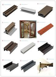 열 절연제 건축재료 Windows와 문을%s 알루미늄 밀어남 단면도