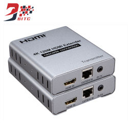 Boucle Cascade d'extendeur HDMI 4K 30Hz via Cat5e/6 120m de câble Ethernet émetteur récepteur HDMI avec IR