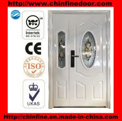 Porta de segurança em aço com vidro (CF-U006-1)