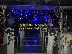 結婚式の背景幕のための3*6m LEDの星のカーテンの青および白色光