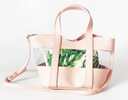 2019の女性PUのハンドバッグの透過女性袋PVC革製バッグ