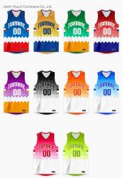 Het volledige Afgedrukte Aangepaste Aantal dat van de Naam online het In te ademen Kledingstuk van de Kostuums van het Basketbal verscheept