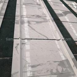 磨かれたBiancoカラーラか平板または床タイルまたは表またはカウンタートップまたは浴室またはフロアーリングのためのStatuarioまたはオリエンタルまたはThassos/Arabescato/Calacatta/Crystal/Pandaの白い大理石