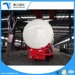 Heavy Duty 3 Ejes utiliza camiones cisterna de cemento a granel, Silo de cemento a granel Trailer
