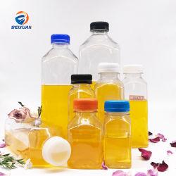 500 ml de zumo de Plástico Cuadrado francés personalizada bebidas botella botella