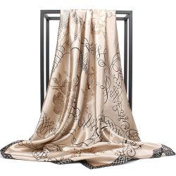 Высокое качество производства Китая оптовые Designer малых Custom цифровой печатной головки Саржа Bandana атласный шелк шарфа женщин
