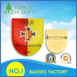 Vervaardiging Emaillapel Blank Tinplate Pin Lapel Pins Shield/Plane/Fish/Flag