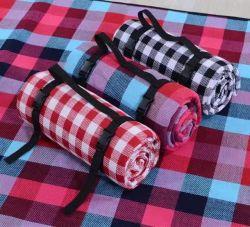 Мягкий флис пикник ковер с водонепроницаемым PEVA резервное копирование, семейные поездки на открытом воздухе коврик, легкий и портативный лужайке одеяло, Sand-Proof Бич коврик