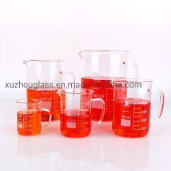Becher in vetro da laboratorio con manico da 100 ml 250 ml 500 ml