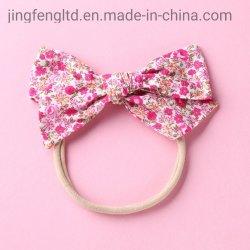 Arco floral, Escuela de cintillos de Nylon Girl Arco Cabello cintillos bebé elástico sombreros primavera otoño arcos