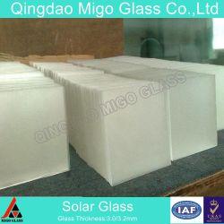 3,2Mm Painel Solar Ferro baixa o vidro temperado para módulos BIPV