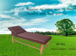 나무 고정 마사지 테이블(SM-002)