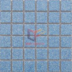 Motif de fleurs de glaçure bleu de la piscine de tuiles de céramique (CFT911)