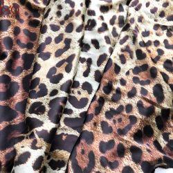 De Digitale Druk van de luipaard 16 van de Zijde van Spandex mm van de Stof van het Satijn