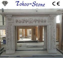 Estatua de mármol y granito chimenea manto/mantos chimenea para interiores