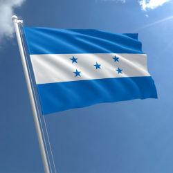 [هيغقوليتي] [ديجتل] طباعة [3إكس5فت] بوليستر بناء زرقاء أبيض راية 5 نجم بلد هندوراس صخر لوحيّ