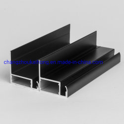 Una de aluminio anodizado negro6063 / Perfil de aluminio de extrusión de bastidor del módulo solar