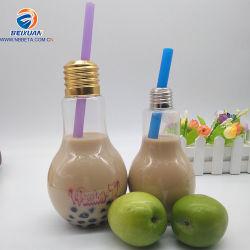 bottiglia a forma di di plastica della bevanda dell'acqua della spremuta della tazza della paglia della lampadina di 500ml Drinkware