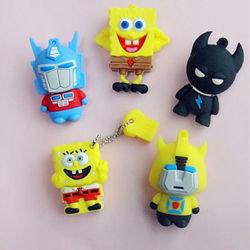 Настраиваемые USB флэш-накопитель USB Spongebob Squarepants Тонкий слой ПВХ 256 ГБ
