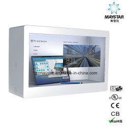 Maystar Android / Windows Network Touchable Control Touchscreen TFT LCD Transparente Anzeige-Box für Werbung Messe Events