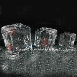 Cube de glace et transparent en acrylique de bloc de glace pour Diamond Décorations de mariage