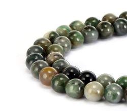 自然な中国のSinkaingのヒスイの宝石用原石のスムーズな円形の緩いビードは宝石類のブレスレットおよびネックレスおよびいろいろな方法宝石類4mm - 14mm作ることができる