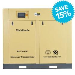 Mickllende 15-250 Kw a eficiência de Alta Pressão Motor Pm inversor do lado ar injectado a óleo Industrial AC Máquina acionada por tipo de parafuso único Compressor de ar de parafuso rotativo