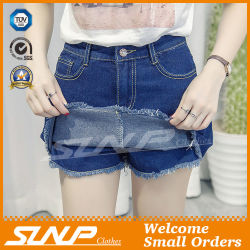 セクシーで熱い販売法の女性摩耗のスカートの服のデニムの不足分のジーンズ