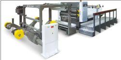 Tagliatrice di carta dello strato del rullo di doppio svolgimento, tagliatrice ad alta velocità della lama della fresa, taglierina di strato rotativa della lama