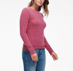 여성용 패션 100% 고급 캐시미어 크레이넥 풀오버 스웨터
