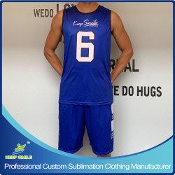 Totalmente personalizado se sublima Basquetebol Personalizado conjunto uniforme com o basquetebol Jersey e calções de basquete