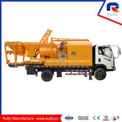 Usine de béton mobile monté sur camion le bétonnage de la pompe avec mixeur (JBC40-L)