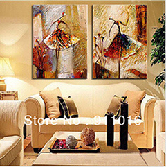 Canvas Home Decoration Ballet Dancer Artwork The Picture Decor Painting & Calligraphy에 2 위원회 Wall Art Pictures Oil Painting
