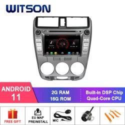 [ويتسون] [كواد-كور] [أندرويد] 11 سيارة [فد] [GPS] ل [هوندا ستي وحدة رأس CarPlay WiFi بقوة 1,5 طن 2008-2012