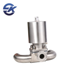 صمام غشاء معدني ثلاثي الاتجاه من نوع U-Type ذو 3 اتجاهات من الفولاذ المقاوم للصدأ 304/316L