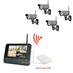 Оптовая торговля небольшой беспроводной сети видеонаблюдения CCTV камеры системы с помощью монитора