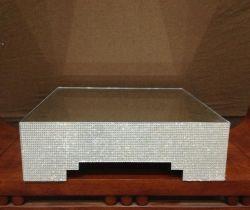 Suporte de bolo elegante com decoração autocolante de Cristal Flash (CA-997)