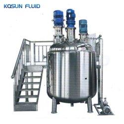Het Mengen van de homogenisator het Verwarmen van de Tank van de Mixer van de Room Bekleed Vloeibaar Roestvrij staal die Tank mengen met de Verwarmer van het Mengapparaat