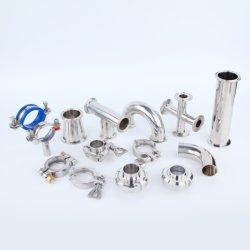 Aço inoxidável Medidas Sanitárias 3um cotovelo/T/redutor de tubo de soldadura montagem Tri Conexão do Tubo de Fechamento