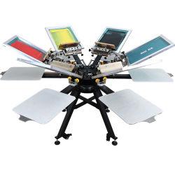 L'écran 6/6 Imprimante avec station d'aluminium Manuel Micro-Registration monsieur l'impression de l'écran Appuyez sur