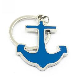 Lieferungs-Anker-Lieferungs-Rad-Schlüsselketten-Metallweicher Decklack-Schlüsselkette der Zink-Legierungs-3D mit kundenspezifischem Firmenzeichen