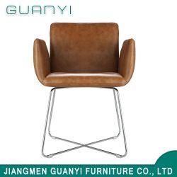 現代余暇PUの革シートのChormedの足の椅子の世帯の家具