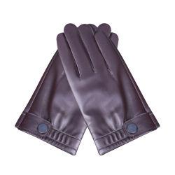 O inverno PU Ecrã Táctil Luvas impermeáveis luvas térmicas Andar Piscina as luvas de couro Mitenes para Homens Mulheres