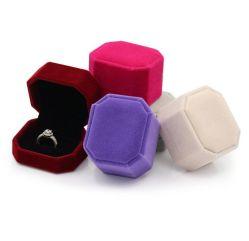 Qualität eleganter achteckiger Schmucksache-Kasten Belüftung-Flannelette, Ring-Kasten, Armband-Kasten, langkettiger Kasten