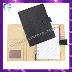 Capa de couro PU personalizados A5 do diário do Organizador