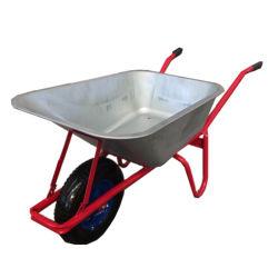 As ferramentas agriculturais e os nomes dos usos de ferramentas da construção galvanizaram o carrinho de mão de roda