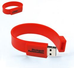 2017 unità flash USB impermeabili promozionali bracciale USB in silicone