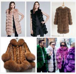 China fabricante de la competencia verdadera Fox abrigo de piel y el chaleco